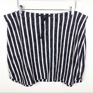 GAP l Striped Drawstring Mini Skirt